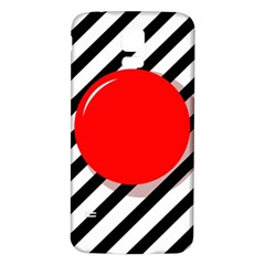 Red ball Samsung Galaxy S5 Back Case (White)
