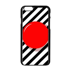 Red ball Apple iPhone 6/6S Black Enamel Case
