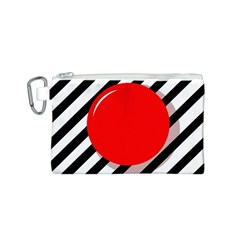 Red ball Canvas Cosmetic Bag (S)