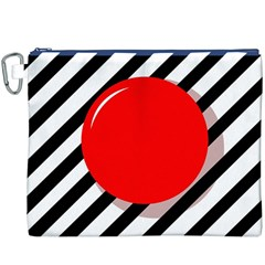 Red ball Canvas Cosmetic Bag (XXXL)