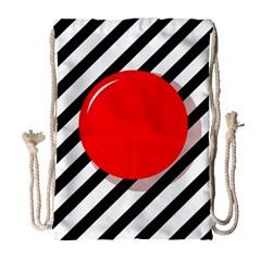 Red ball Drawstring Bag (Large)