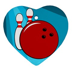 Bowling  Ornament (Heart)