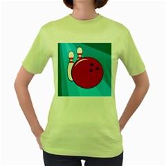 Bowling  Women s Green T-Shirt