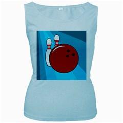 Bowling  Women s Baby Blue Tank Top