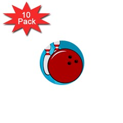 Bowling  1  Mini Buttons (10 pack)