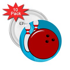 Bowling  2.25  Buttons (10 pack)