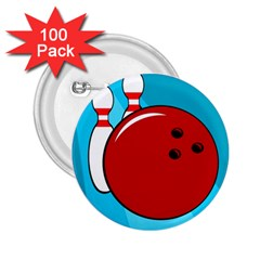 Bowling  2.25  Buttons (100 pack)
