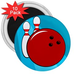 Bowling  3  Magnets (10 pack)