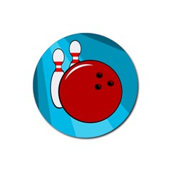 Bowling  Rubber Round Coaster (4 pack)