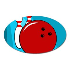 Bowling  Oval Magnet