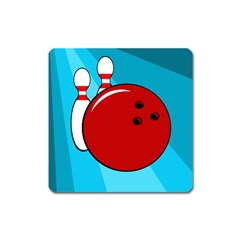 Bowling  Square Magnet