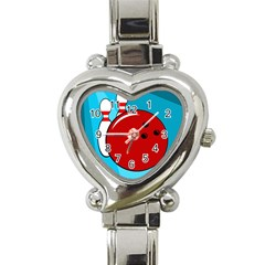 Bowling  Heart Italian Charm Watch