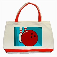 Bowling  Classic Tote Bag (Red)