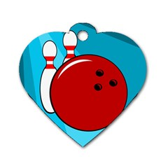 Bowling  Dog Tag Heart (Two Sides)
