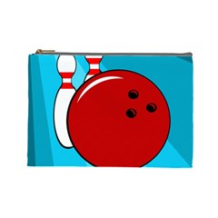 Bowling  Cosmetic Bag (Large)