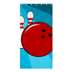 Bowling  Shower Curtain 36  x 72  (Stall)
