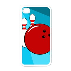 Bowling  Apple iPhone 4 Case (White)