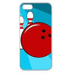 Bowling  Apple Seamless iPhone 5 Case (Clear)