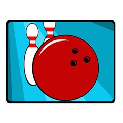 Bowling  Double Sided Fleece Blanket (Small)