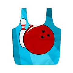Bowling  Full Print Recycle Bags (M)