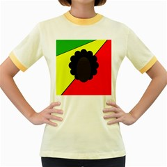 Jamaica Women s Fitted Ringer T-Shirts