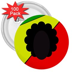 Jamaica 3  Buttons (100 pack)