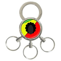 Jamaica 3-Ring Key Chains