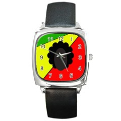 Jamaica Square Metal Watch