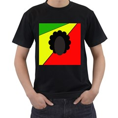 Jamaica Men s T-Shirt (Black) (Two Sided)