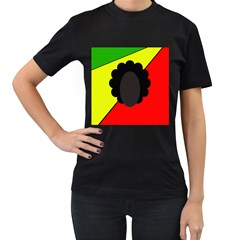Jamaica Women s T-Shirt (Black) (Two Sided)