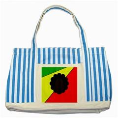 Jamaica Striped Blue Tote Bag