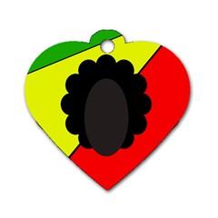 Jamaica Dog Tag Heart (One Side)