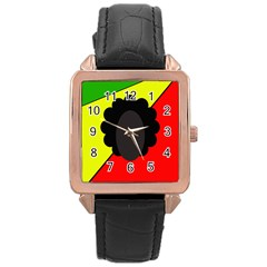 Jamaica Rose Gold Leather Watch