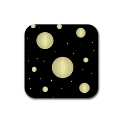 Lanterns Rubber Square Coaster (4 pack)