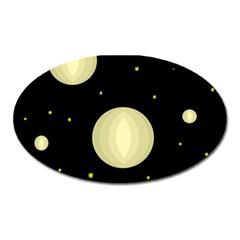 Lanterns Oval Magnet