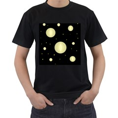 Lanterns Men s T-Shirt (Black) (Two Sided)