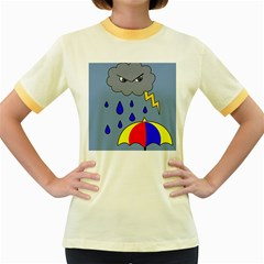 Rainy day Women s Fitted Ringer T-Shirts