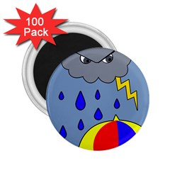 Rainy day 2.25  Magnets (100 pack)