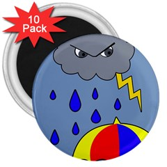 Rainy day 3  Magnets (10 pack)