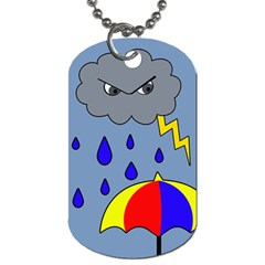 Rainy day Dog Tag (Two Sides)