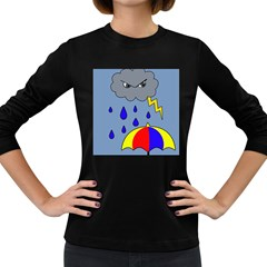 Rainy day Women s Long Sleeve Dark T-Shirts
