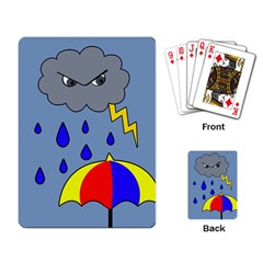 Rainy day Playing Card