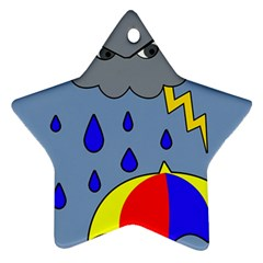 Rainy day Star Ornament (Two Sides)