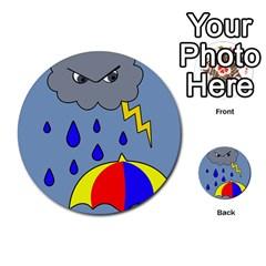 Rainy day Multi-purpose Cards (Round)
