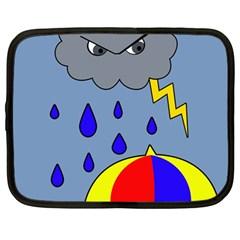 Rainy day Netbook Case (Large)