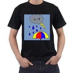 Rainy day Men s T-Shirt (Black)