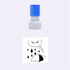 Rainy day Rubber Round Stamps (Small)