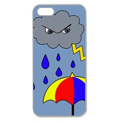 Rainy day Apple Seamless iPhone 5 Case (Clear)