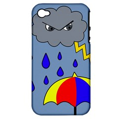 Rainy day Apple iPhone 4/4S Hardshell Case (PC+Silicone)