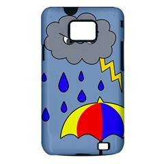 Rainy day Samsung Galaxy S II i9100 Hardshell Case (PC+Silicone)
